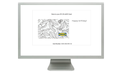 Ikea gift cards from cashstar email them an egift card m4hsunfo